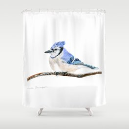 Blue by Teresa Thompson Shower Curtain