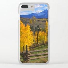 Aspen, Ranch - San Miguel Mountains near Telluride, Colorado Clear iPhone Case