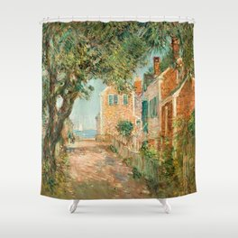 Classical Masterpiece 'Provincetown, Cape Cod' by Frederick Childe Hassam Shower Curtain