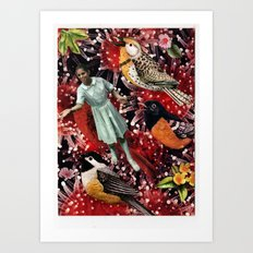 Happy Bird day | Collage Art Print