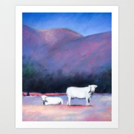 Arizona Cows Art Print