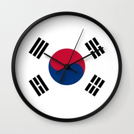 South Korean flag - officially the Republic of Korea, Authentic version - color and scale Wall Clock