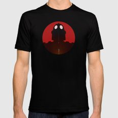 Iron Red MEDIUM Black Mens Fitted Tee