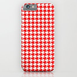Scarlet Houndstooth iPhone Case