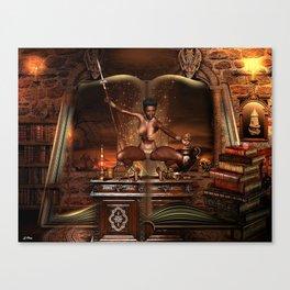BOOK OF JUNGLE TALES Canvas Print