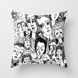 the crowd Throw Pillow