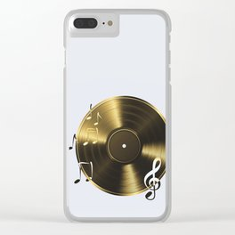 Gold LP Vinyl Record Clear iPhone Case