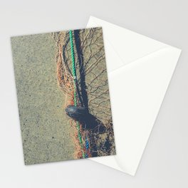 Fishnet with buoy on rope Stationery Cards