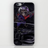 rocket raccoon iPhone & iPod Skins featuring Rocket Raccoon  by kuri