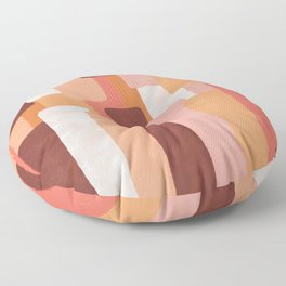 Line In Coral #society6 #abstractart Floor Pillow