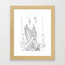 Samburu Warrior Framed Art Print