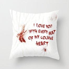 COCAINE LOVE Throw Pillow