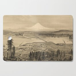 Vintage Pictorial Map of Tacoma Washington (1878) Cutting Board