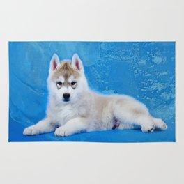 Siberian Husky Puppy Rug