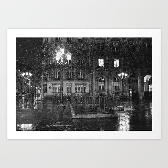 Paris road Art Print