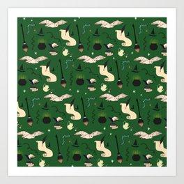 Slytherin Pattern Art Print