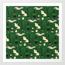 Slytherin Pattern Art Print