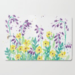 Bluebells and Butercups Cutting Board