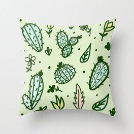 Cactus Collage Throw Pillow