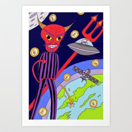 Money is the root of all evil Art Print