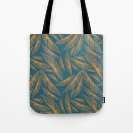 Feathered Leaf Pattern Tote Bag