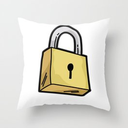 LOCKED AND LOADED Chastity Cage Cuckold Kinky Sub Throw Pillow