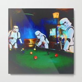 Stormtroopers On Break Metal Print