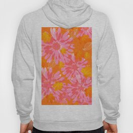 Flower Petals and Leaves in Orange and Pink Color palette Sunny mood #decor #society6 #buyart Hoody