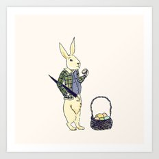 A late easter bunny Art Print