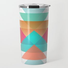 Geometric abstract indigenous symbol Travel Mug