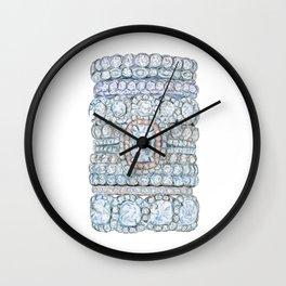 Pink diamonds rings Wall Clock