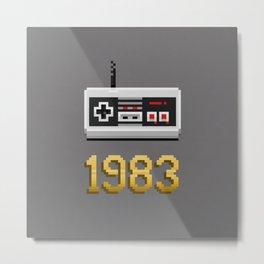 1983 [Pixel Art] Metal Print