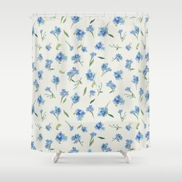 Forget Me Not Pattern Shower Curtain