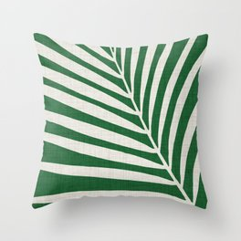 Minimalist Palm Leaf Throw Pillow