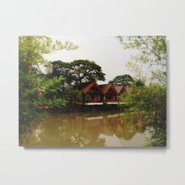 Bamboo Curtain Metal Print