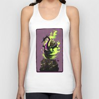 maleficent Tank Tops featuring Maleficent by Jennifer Ely