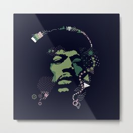 =Hendrix= Metal Print