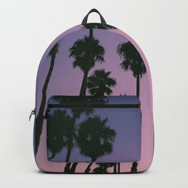 SILHOUETTE OF TREES DURING GOLDEN HOUR Backpack