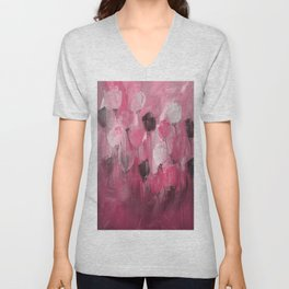 Rose Garden in Shades of Peachy Pink Unisex V-Neck