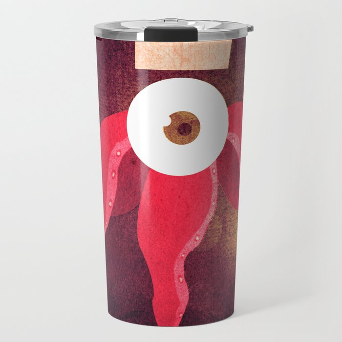 Red King Octopus Travel Mug