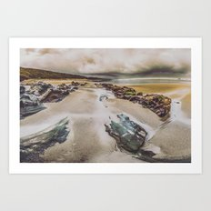 Ocean Beach - Oregon Pacific Ocean Beach Art Print