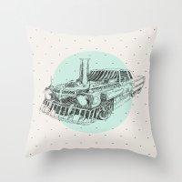 steam punk Throw Pillows featuring Steam punk by grop
