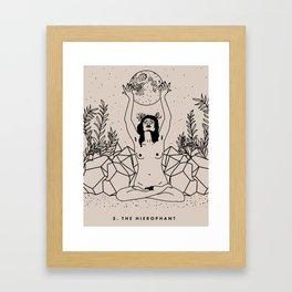 5. The Hierophant Framed Art Print