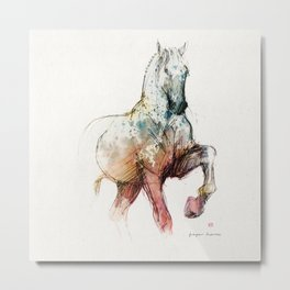 Horse (Siwy / Silver / color version) Metal Print