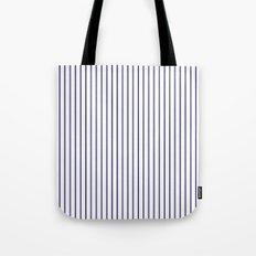 Navy Stripes Tote Bag