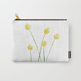 Yellow Billy Button Flowers Carry-All Pouch