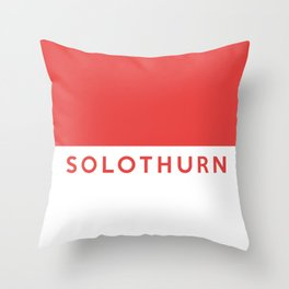 Solothurn region switzerland country flag name text swiss Throw Pillow