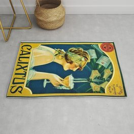 Vintage 1920's Calixtus Champagne Advertising Poster Rug