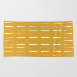 organic / yellow Beach Towel
