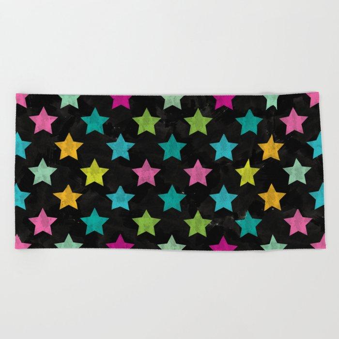 Colorful Star II Beach Towel